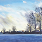 Sky and Snow - Original Oil Painting