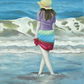 Paddling (Hat) - Original Oil Painting