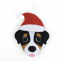Christmas Bernese Mountain Dog - Felt Dog Decoration