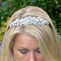 Handmade  Tiny Rosebud Headband , or Tiara