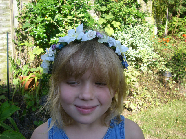 Flower Girl Woodland Hair Wreath