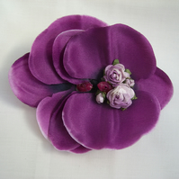 Vintage Syle Purple Orchid Hairclip & Brooch