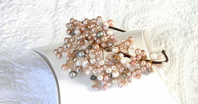 Champagne Pearl Head Band