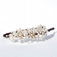 Cream Pearl Headband