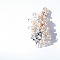 Peaches and Cream Pearl  Clip