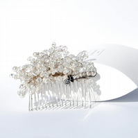 Vintage Bridal Pearl and Crystal  Comb