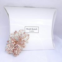 Peaches and Cream Pearl Hair Clip