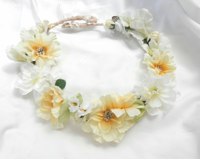Wedding Flower Crown 20's Inspired