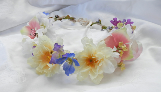 Woodland Multi Colour Flower Crown