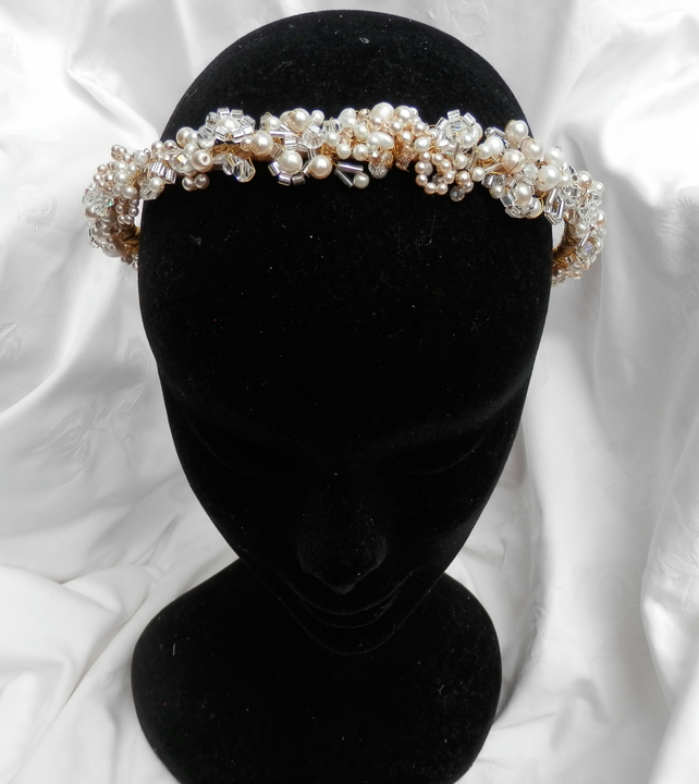 Gold Textured Tiara