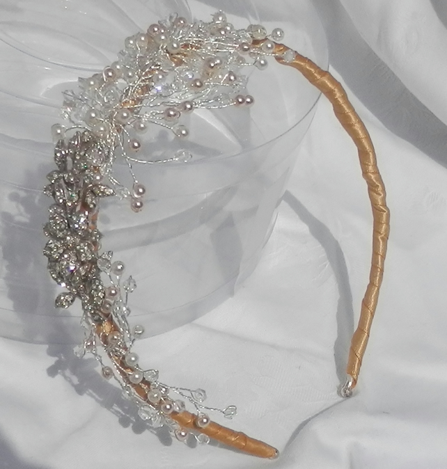 Textured Branch Side Tiara