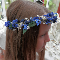 Navy Blue Flower Garland