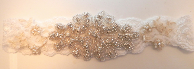 Romantic Wedding Garter