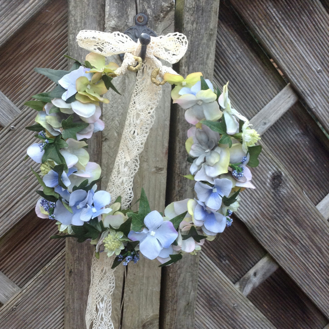 Pale Blue Woodland Hair Crown