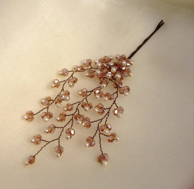 Champagne Crystal Hair Pin