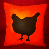 Orange Chicken Felt Cushion