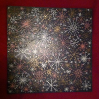 Snowflakes Slate Surface Protector Decoration Placemat
