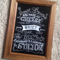 Sweet Dreams are Made of Cheese Chalkboard