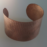 Textured Copper Cuff, with Natural finish