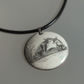 Enamelled Foxes Pendant