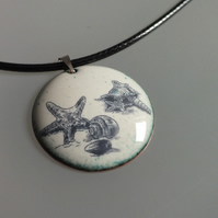 Enamelled Sea Shells Pendant