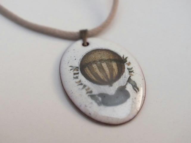 Hot Air Balloon Enamel Pendant