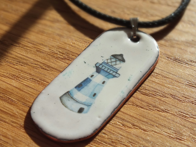 Enamelled Lighthouse Pendant