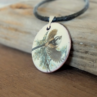 Long tailed tit pendant