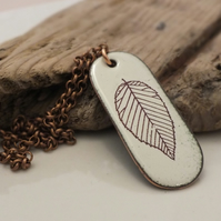 Beech leaf skeleton pendant
