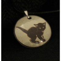 Black Kitten pendant