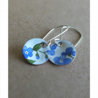 Enamel Forget-me-not earrings