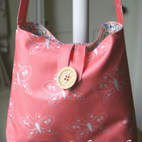 Messenger Bag - Butterflies Pink