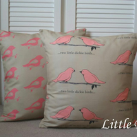 Two Little Dickie Birds Cushion