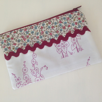 Hollyhocks Zip Purse