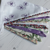 Lilac and Green Floral Bunting