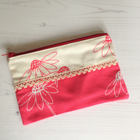 Daisy Trio Purse - Red