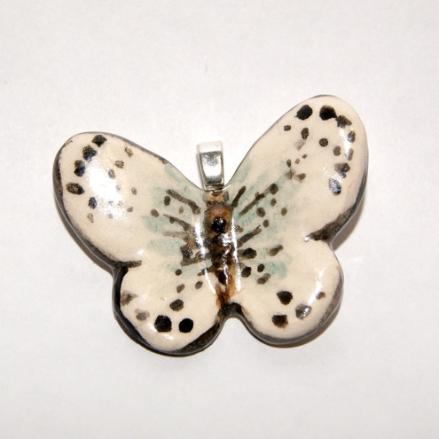 Ceramic butterfly necklace