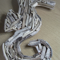 Seahorse wallhanging decoration made from Cornish reclaimed driftwood.