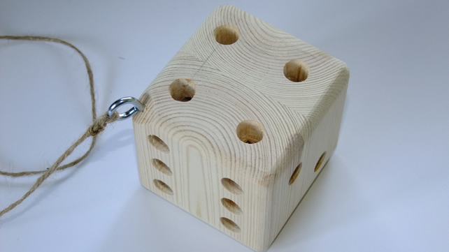 Dice shaped bug, ladybird or insect shelter for wild creatures in the garden
