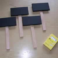 WOODEN CHALKBOARDS ON STICKS FOR FLORIST, MARKET STALL, CAR BOOT, WEDDING