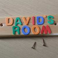 WOODEN DOOR NAME PLATE OR SIGN FOR CHILDREN OR BABY BEDROOM OR PLAYROOM