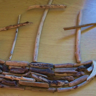 Have fun making a boat or ship from genuine driftwood, in kit form self assembly