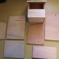 Robin or small garden bird nesting box kit to build yourself, self assembly kit.