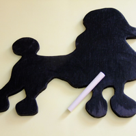 Black poodle chalkboard wallhanging for messages ideal for dog lover