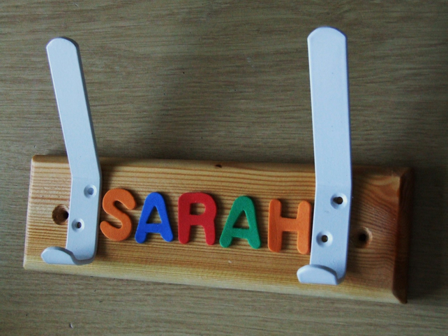 DOOR NAME PLATE COAT HANGER OR SIGN FOR CHILDREN OR BABY BEDROOM OR PLAYROOM