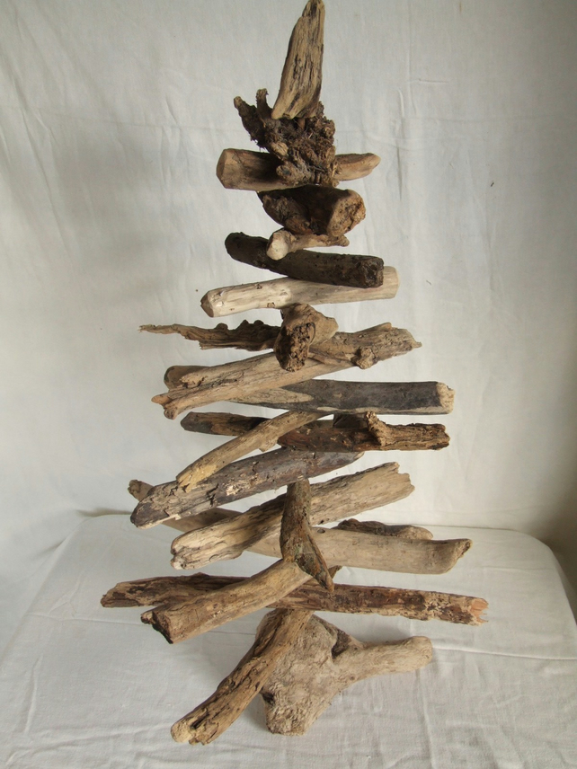 Driftwood Christmas tree decoration for the Xmas season or all year pleasure.