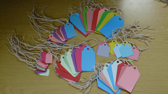 72 gift tags assorted shaped Sizzix die cuts for card embellishments & crafting.
