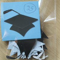 25 universtity mortar board hat Sizzix die cuts graduation day celebrations.