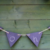 BLACKBOARD CHALKBOARD BUNTING BIRTHDAY PARTY CHRISTENING WEDDING CELBRATIONS