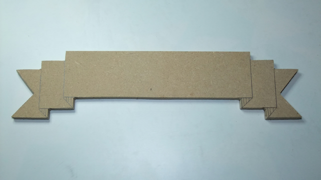 Blank MDF wooden banner, ideal for a wedding, christening, birthday party, etc.